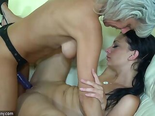 OldNanny Old skinny woman with strapon, seductive unspecific and challenge