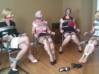Ruth Caassidy and taped friends