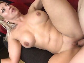 Mature old lady cheating hubby with big young cock