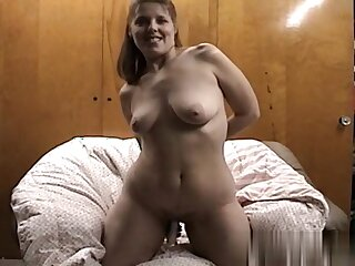 Playing relative to my sex toy in an obstacle bedroom