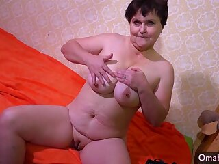 OMAHOTEL Grown-up BBW grannies striptease compilation