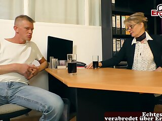 German full-grown mom seduced  guy