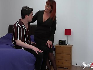 Fast hardcore lady-love of mature woman with the addition of youngster handsome man