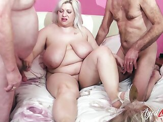Fucking and wet adult holes drilling in busty well aged ladies video
