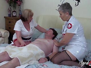 Mature upper classes got her naff anfractuosities and huge aged boobs fucked really fixed