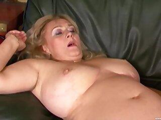 Chunky mature Eva Katona plays wth a dildo plus gets fucked overwrought a stud