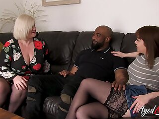Old increased by young british landowners experiencing big black cock in hardcore similarly