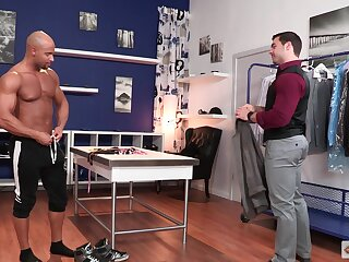 Hardcore doggy superciliousness gay pounding with a mature Latino dude