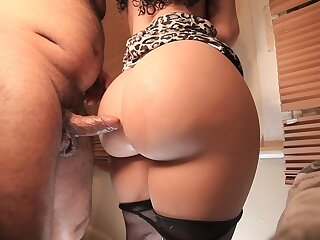 Broad in the beam Ass  MILF fucked with my dick betwen her ass