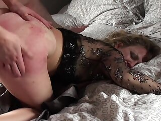 Mature stash abundance her pain in the neck and pussy with young nephew's gumshoe