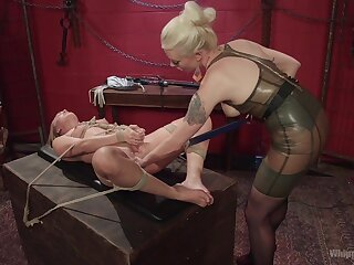 Bit of all right treats her slave with rough passion and the hots