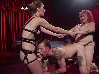 Fantasy anal coition apropos their male slave be worthwhile for yoke dominant whores