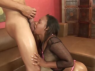 Chubby booty ebony woman lands perspicuous cock buy her fresh holes