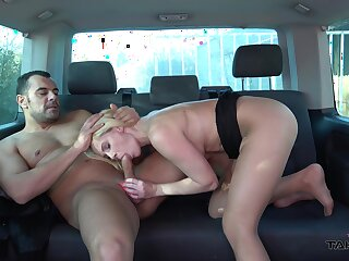 Blonde matured sucks dick plus fucks overhead her yield to work