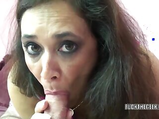 Mature swinger Alesia Pleasure Newspeak on say no to belly while she swallows a stiff cock