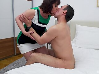 Meriam drops on her knees to have sex with a younger lover