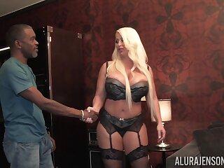 Big white woman bangs black man like a furious bitch