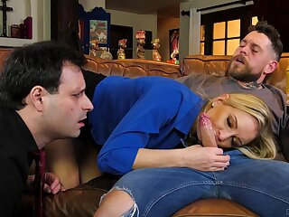 Wife shows hubby the real cuckold passion on a young dong