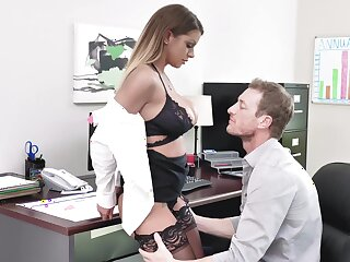 Busty mature Brooklyn Chase gets fucked hard in the office