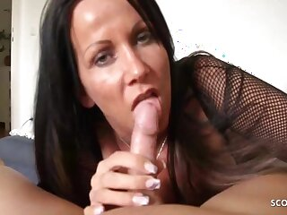 Katie Pears In German Mom Teased Blowjob And Handjob Be advisable for Stepson, Pov