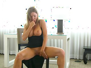 Horny nympho flashes and plays with her boobies during nice solo
