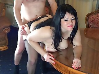 Russian secretary sex with the boss in the meeting