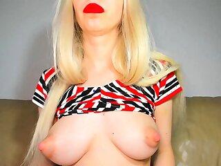 USA sexiest blonde pregnant big boobs beauty webcam turn