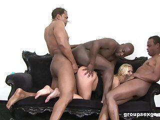 Sexual anal gangbang for a really slutty become man