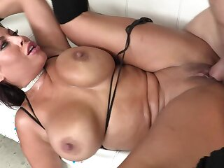 Anal fuck is the best workout for the Spanish slut with heavy pair