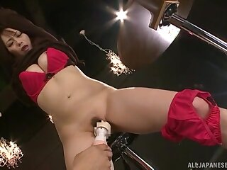 Anomalous video of tied up Nanami Hirose getting pleasured with toys
