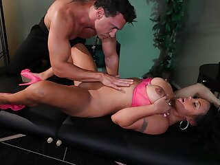 Massage leads all over hardcore dicking for busty model Mariah Milano